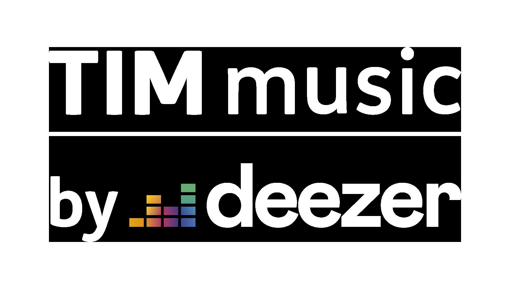 Logos Deezer e TIM